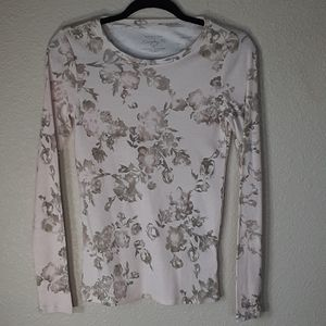 Sonoma Life StyleSoft Pink Floral Print Tee Size S